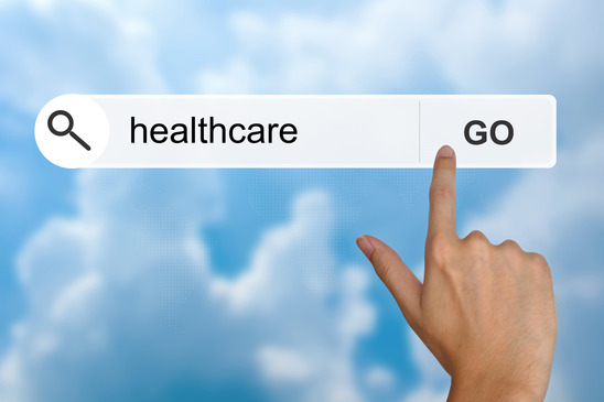 healthcare on search toolbar